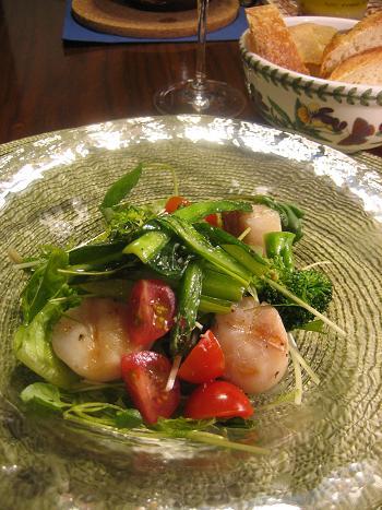 ホタテとグリーンサラダ.JPG